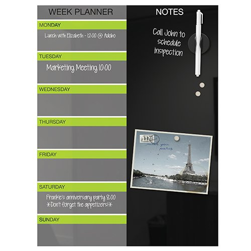 ... schedule at home and the office with the Black Magnetic Glass Dry